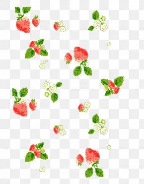 Strawberry Floating - Desktop Environment Wallpaper PNG
