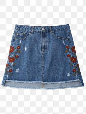 Denim Skirt - Jeans Denim Skirt Fashion PNG