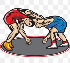A Wrestler; A Wrestler - Professional Wrestling Cartoon Clip Art PNG