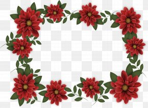 Wine Red Flower Borders - Adobe Illustrator Red Computer File PNG