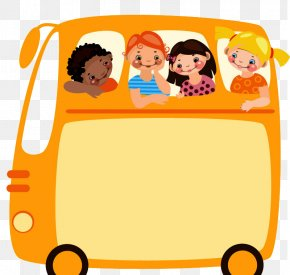 School Bus Sticker Vector - Field Trip Bus Travel Clip Art PNG