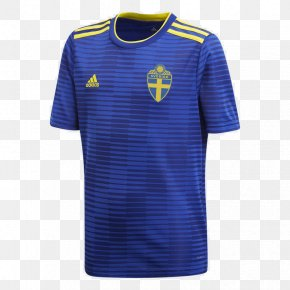 World Cup Jersey - 2018 World Cup T-shirt Sweden National Football Team Nightshirt PNG