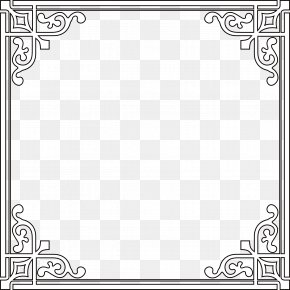 European Metal Black Frame - Metal Black And White Computer File PNG