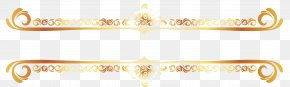 Continental Gold Line Border Vector - Brand Yellow Pattern PNG