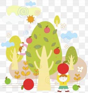 Pick Apples, Children - Child Apple Cartoon PNG