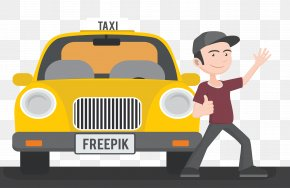 Taxi And Taxi Drivers - Taxi Uber Driver Chauffeur PNG