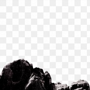 Stone - Black And White Sky Stock Photography Wallpaper PNG