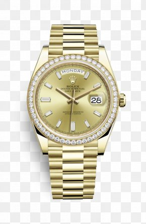 Diamond Watch - Rolex Submariner Rolex Day-Date Gold Rolex President Perpetual Day-Date PNG