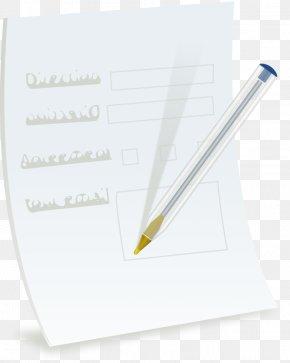 Paper Sheet - Paper Ballpoint Pen Fountain Pen Information PNG