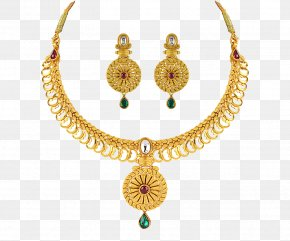 Jewelery - Earring Jewellery Necklace Gold Jewelry Design PNG