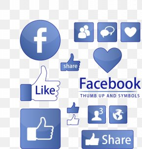 Chart _ Social Information On Facebook,Thumbs,blue,Editable Vector - Facebook Like Button Symbol Icon PNG