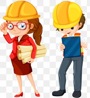 Two Engineers - Engineering Royalty-free Cartoon Clip Art PNG