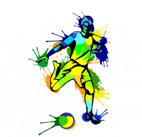 Football - Brazil National Football Team Vector Graphics World Cup Football Player PNG