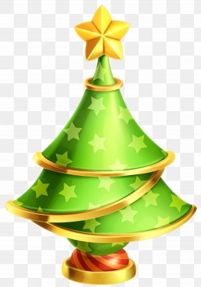 Transparent Christmas Tree Decor Clipart - Christmas Tree Clip Art PNG