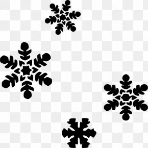 Flake Cliparts - Snowflake Black And White Clip Art PNG