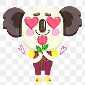 Heart Pink - Pink Flower Cartoon PNG
