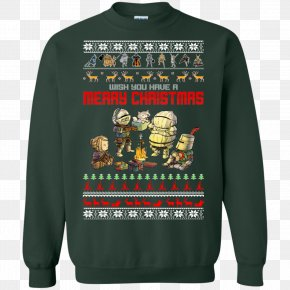 T-shirt - T-shirt Christmas Jumper Hoodie Sweater Sleeve PNG