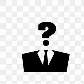 Suit Man's Question - Anonymous Stock Photography Clip Art PNG