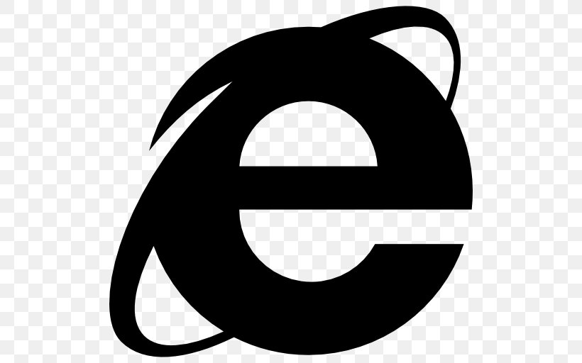 Internet Explorer Web Browser Microsoft Edge, PNG, 512x512px, Internet Explorer, Artwork, Black, Black And White, Computer Software Download Free