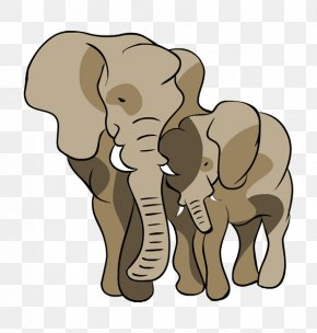 Mother's Day - Indian Elephant African Elephant Mother Infant Clip Art PNG