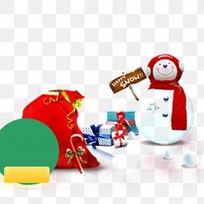 Snowman Snowman Christmas Gift Bags - Santa Claus Christmas Snowman PNG