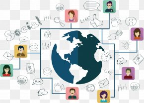 Global Information Network Of Contacts - Social Media Social Network Icon PNG