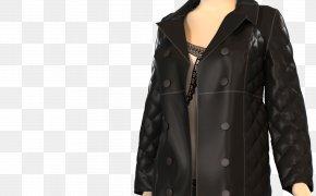 Jacket - Leather Jacket Overcoat PNG
