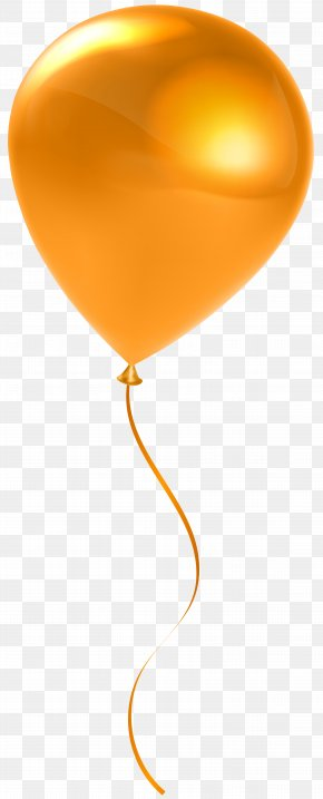 Single Orange Balloon Transparent Clip Art - Balloon Stock Photography Orange Clip Art PNG