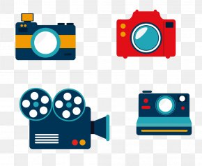 Cartoon Camera - Photographic Film Video Camera PNG
