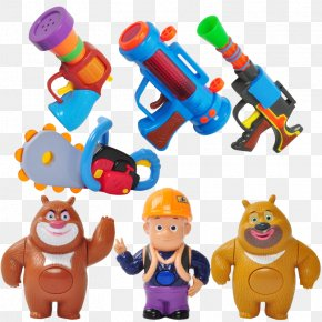 Strong Chainsaw Bald Baby Mini Q Edition Sound And Light Gun Children Toy Boy - Toy Weapon Child Taobao Bear PNG