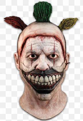 Mask - Latex Mask Clown Halloween Costume PNG