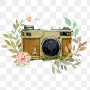 Vector Flower With Camera - Wedding Invitation Camera Photography PNG