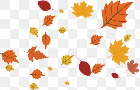 Golden Autumn Vector - Calendar November Maple Leaf Year PNG