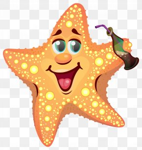 Cartoon Summer Starfish Clipart Image - Patrick Star Cartoon Starfish Drawing PNG