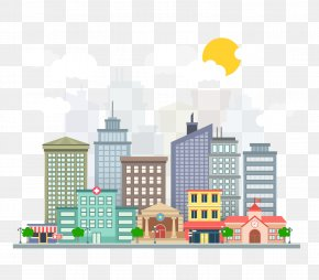 Vector City Building - Lucknow Smart Cities Mission Smart City Internet Of Things Plan PNG