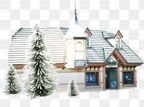 Winter Building European Views - Snowman Animation House PNG