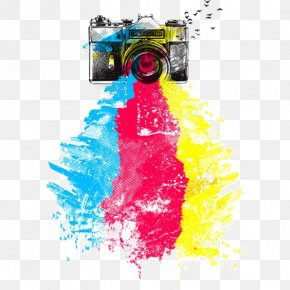 Drawing Camera - T-shirt Camera Drawing Photography PNG