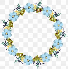Sky Blue Flower Decoration Box - Flower Blue Clip Art PNG