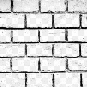 Vintage Black Brick Wall Background - Stone Wall Brick Black And White Material PNG