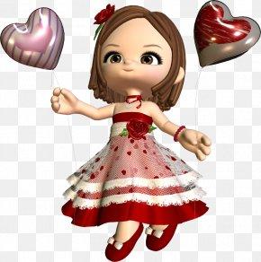 Valentine's Day - Valentine's Day Love Doll PNG