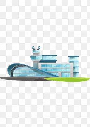 Airport Construction Building Flat Design - Guangzhou Baiyun International Airport Airplane Building Airport Terminal PNG