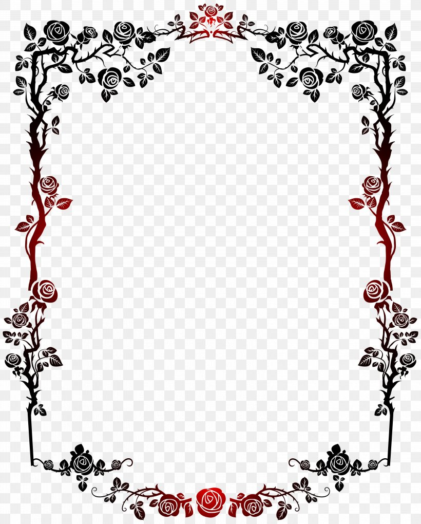 Borders And Frames Picture Frame Clip Art, PNG, 6427x8000px, Borders And Frames, Area, Decorative Arts, Flower, Free Content Download Free