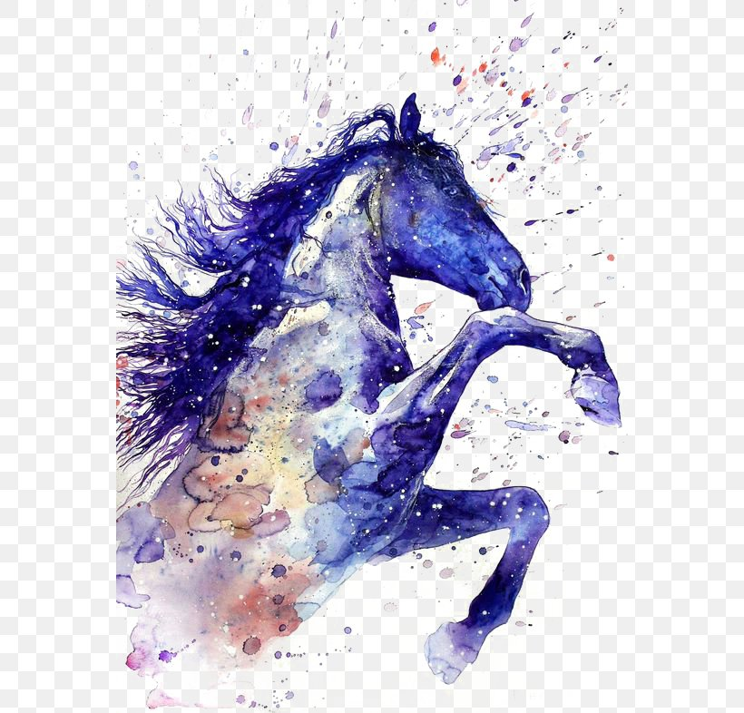 Horse Watercolor Painting Tattoo Drawing, PNG, 564x786px, American Paint Horse, Art, Artist, Deviantart, Drawing Download Free