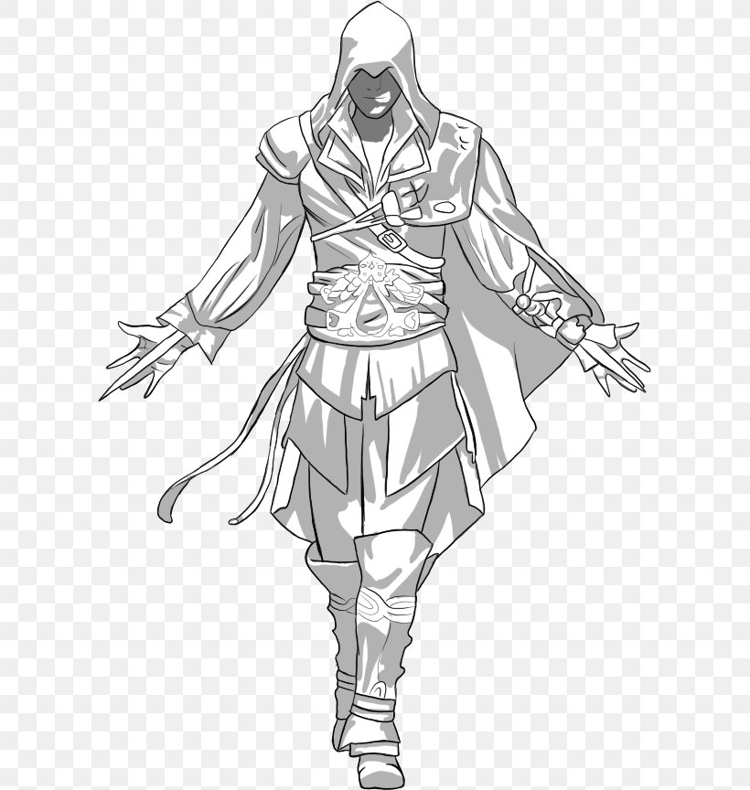 Ezio Auditore Drawing Assassin S Creed Ii Line Art Sketch