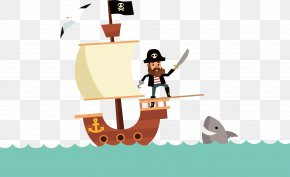 A Captain On A Ship - Pirate Match 3 Sea Captain Illustration PNG