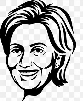 Hillary Black And White - Hillary Clinton President Of The United States T-shirt Clip Art PNG