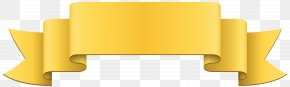 Banner - Banner Yellow Ribbon Clip Art PNG