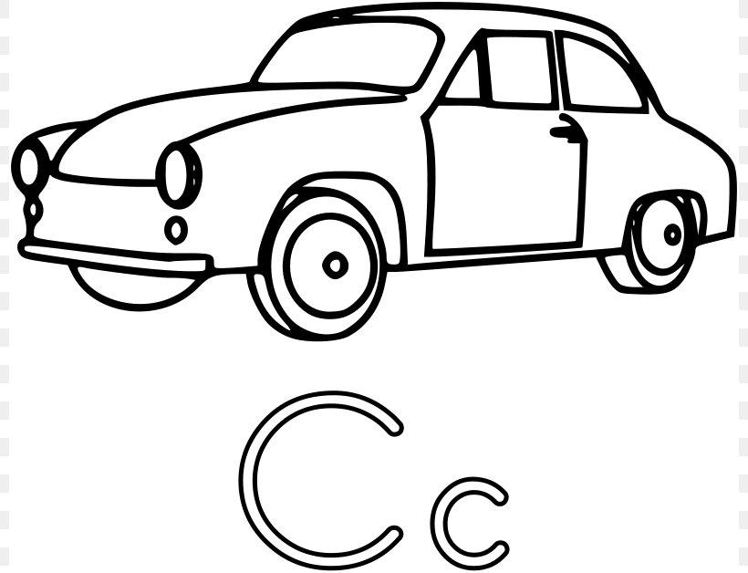 - Car Coloring Book Letter, PNG, 800x628px, Car, Alphabet, Automotive Design,  Black And White, Book Download Free