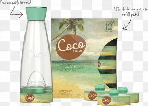 Coconut Water - Coconut Water Glass Bottle PNG