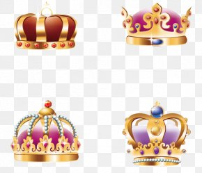 Vector Hand-painted Four Crown - Crown Euclidean Vector Download PNG
